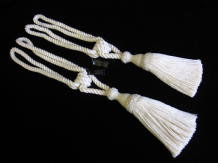 2 natural cotton curtain tiebacks - Jones Interiors cream tie backs ropes ties
